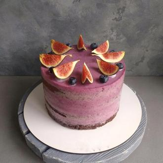 Фітнес торт Чорниця-шоколад (137,07 ккал)