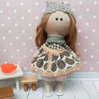 Интерьерная текстильная кукла Тильда Полли