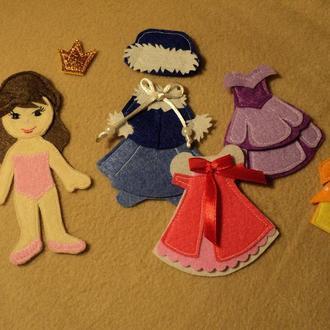 """Развивающая игрушка """"Куколка с одежками"""""""
