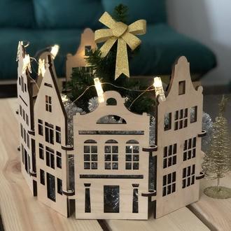 Новорічні будиночки під ялинку в скандинавському стилі