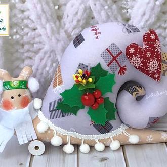 Равлик новорічна з сердечком