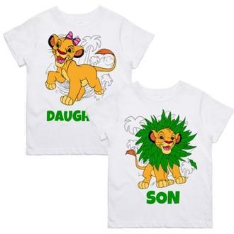 """ФП005822Парные футболки с принтом """"Daughter. Son"""" Push IT"""