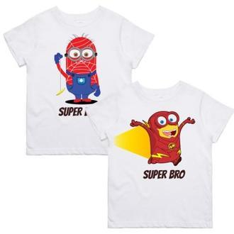 """ФП005824Парные футболки с принтом """"Super Brother"""" Push IT"""