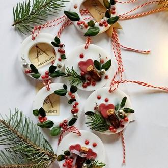 Новогодние Аромасаше - набор  ароматного декора на елку (аромасаше новогодние игрушки)
