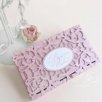 """Gift Box """"Afrodita"""" Цвет 6 (дымчато-розовый) - открытка в коробочке"""