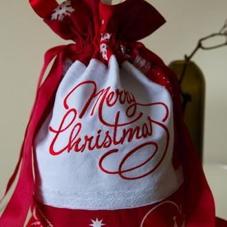 Подарочная котомка MERRY CHRISTMAS