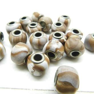 Бусины в стиле пандора из полимерной глины