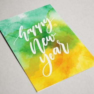 "Новогодняя открытка ""Happy New Year"""