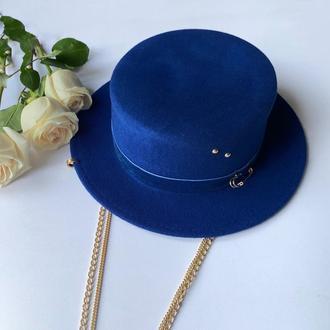 Фетровая шляпа/ капелюх / канотье