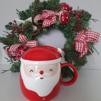 Новогодняя чашка Санта Клаус