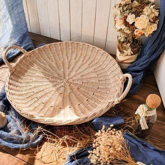 Плетеный поднос Поднос на стол Поднос для сервировки