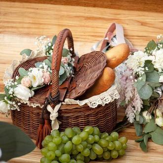 Плетеная корзина Корзина для пикника Корзина для хранения Корзина для фруктов