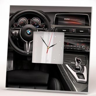 """Декоративные часы с авто """"BMW. БМВ"""""""