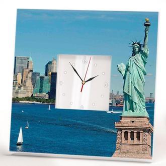 """Настінні годинники """"Нью-Йорк. Манхеттен. Статуя свободи"""""""