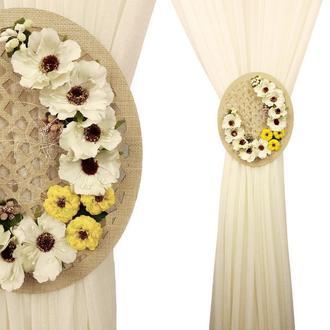 Подхват перфорированный овальный с цветами