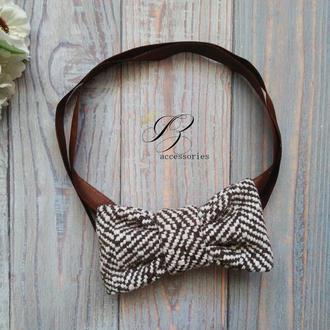Стильный дизайнерский галстук бабочка унисекс