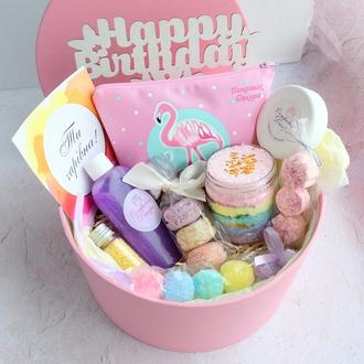 """Подарочный набор """"Фламинго"""", подарок девушке, дочке, племяннице, сестре, на день рождения"""