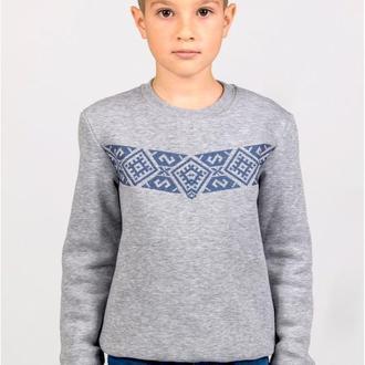 Свитшот для мальчика с вышивкой