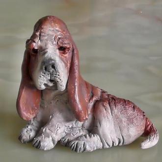 Бассет-хаунд Cобака статуэтка