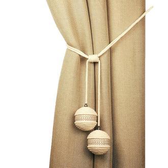 Подхват из шнура, шары с лентой