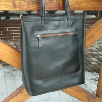 Кожаная сумка. Шоппер. 1311