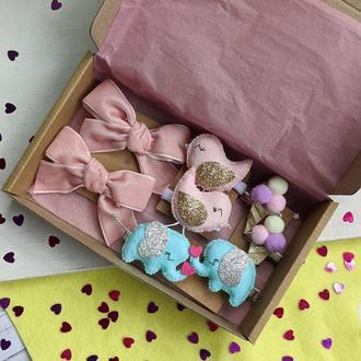 Подарунок дівчинці, заколки, резинки , подарунок дитині