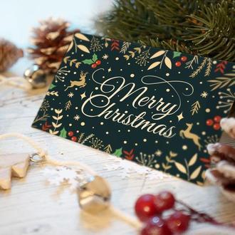 """Новогодняя открытка """"Merry Christmas"""""""