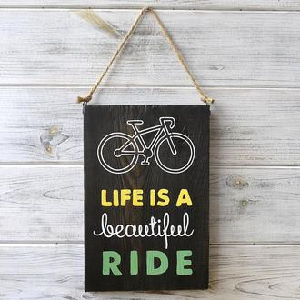 Табличка «Life Is a Beautiful Ride»
