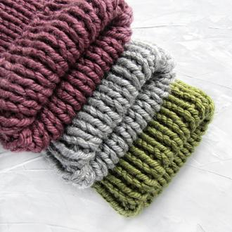 Объемная шапка на зиму