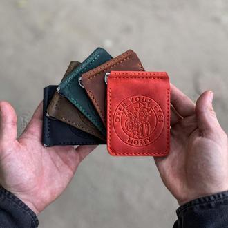 Кошелек портмоне бкмажник  с зажимом для денег - купюр Рик и Морти ( Rick and Morty)