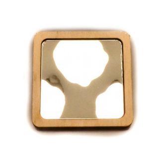 Заготовка для Бизиборда 1шт Зеркало в Рамке 6 см (3 вида) Маленькое Зеркальце Дзеркало для бізіборда