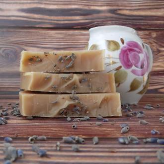 Молочное мыло на мацерате лаванды
