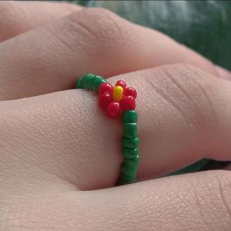 Кольца с цветочком