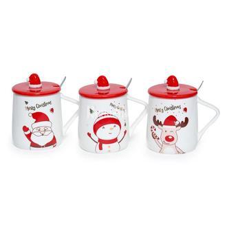 Чашка новогодняя Santa и Олень (на выбор!)