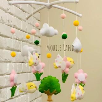 Мобиль на кроватку с птичками