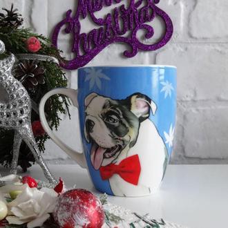 Новогодняя чашка DOG