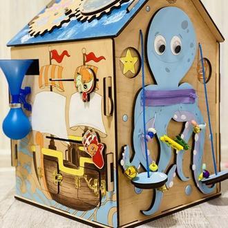Бизиборд бизидом морская тематика для мальчика