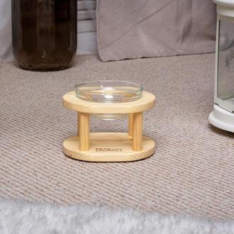 Деревянная подставка с мисками Pets Lounge Bowl Glass, 1х200 мл
