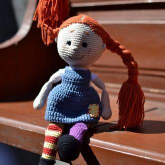 "Кукла""Пеппи Длинныйчулок""крючком"
