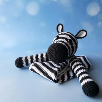 Безопасная игрушка Зебра, комфортер для сна новорожденным детям