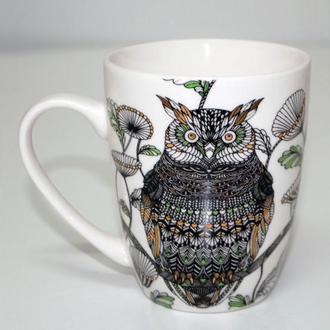 Новогодняя Чашка Мудрая Сова