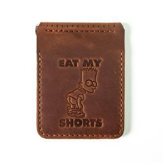 Кошелек портмоне бкмажник  с зажимом для денег - купюр Симпсоны ( The Simosons)