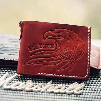 Кожаный кошелек портмоне бумажник
