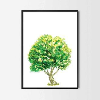 Графический постер Дерево