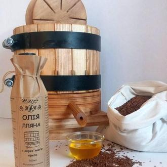 Льняное масло с деревянного пресса 0,5л