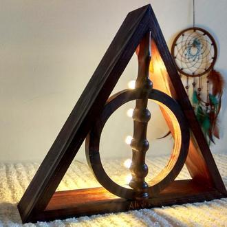 Гарри Поттер Светильник из дерева - Дары Смерти, Бузинная Палочка
