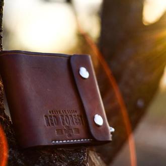 Кожаный кошелек бумажник портмоне