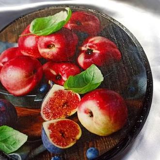 Сырная доска ′Яблоки и инжир′, для подачи закусок, для сервировки