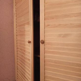 Жалюзийные деревянный дверки (2 створки)