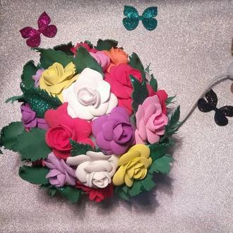 Светильник ночник букет роз из фоамирана